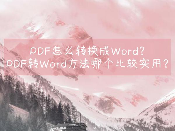 PDF怎么转换成Word?PDF转Word方法哪个比较实用?