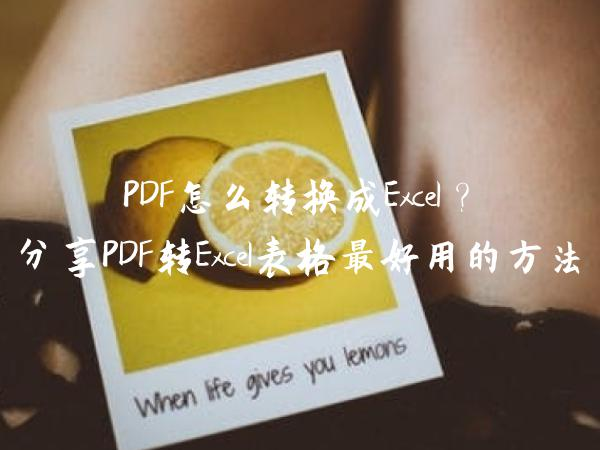 PDF怎么转换成Excel?分享PDF转Excel表格最好用的方法