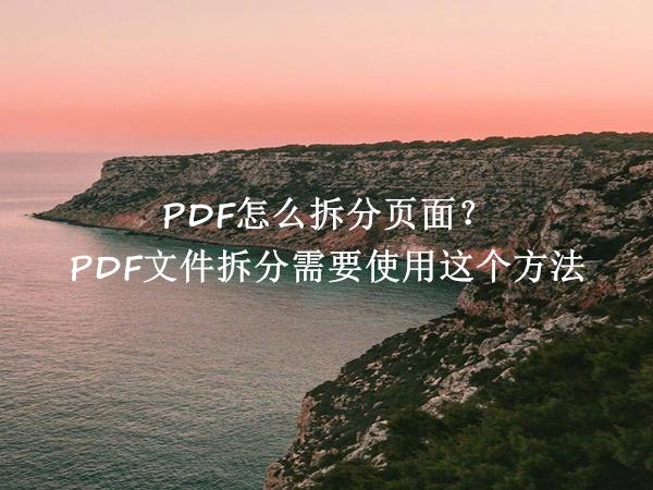 PDF怎么拆分页面?PDF文件拆分需要使用这个方法