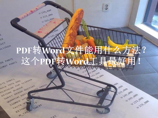 PDF转Word文件能用什么方法?这个PDF转Word工具最好用!