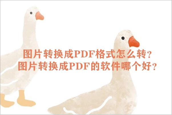 图片转换成PDF格式怎么转?图片转换成PDF的软件哪个好?