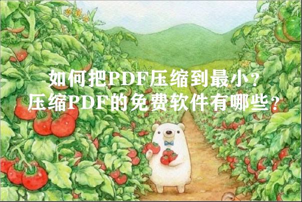如何把PDF压缩到最小?压缩PDF的免费软件有哪些?