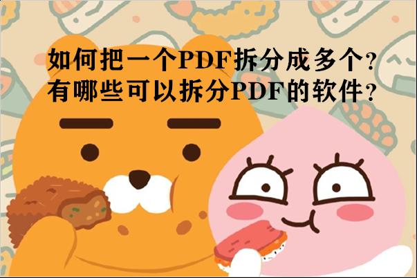 如何把一个PDF拆分成多个?有哪些可以拆分PDF的软件?